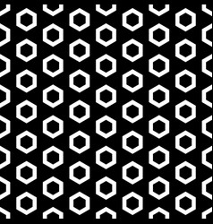 White outline hexagons seamless pattern vector