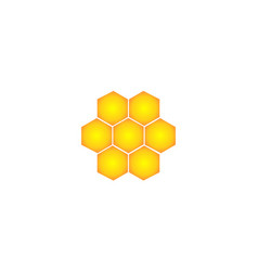 yellow bee logo vector image