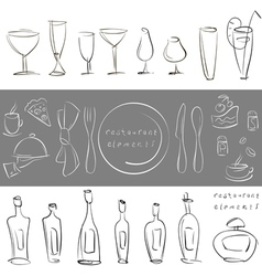 elements for design restaurant menu vector image