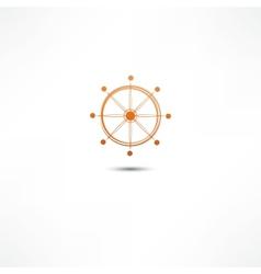 Wheel marine vector image