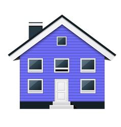 Blue scandinavian condominium - townhouse vector image