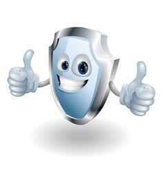 cartoon happy shield man vector image vector image