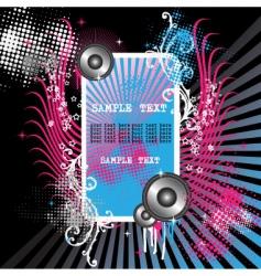 grunge musical illustration vector image vector image