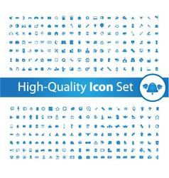Media icon set High vector image vector image