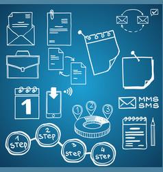 set of social media business finance vector image vector image