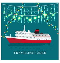 traveling liner festival on cruise ship vector image vector image