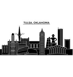 usa tulsa oklahoma architecture city vector image