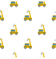yellow cherry picker pattern flat vector image vector image