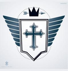 luxury heraldic template vintage blazon vector image vector image