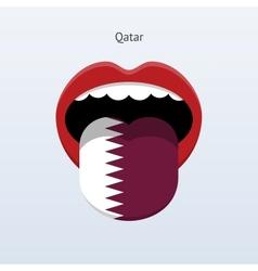 Qatar language abstract human tongue vector