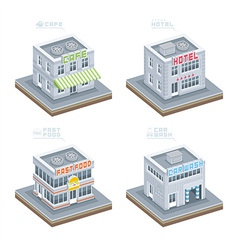 Set of Isometric Buildings vector image