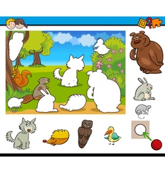 cartoon game for kids vector image vector image