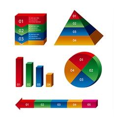 charts and diagrams vector image vector image
