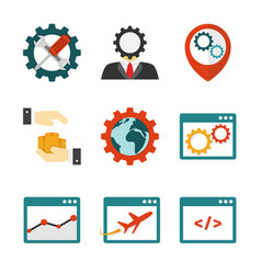 internet marketing flat icons vector image
