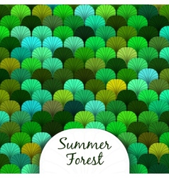 Summer Forest Scaly Texture vector image vector image
