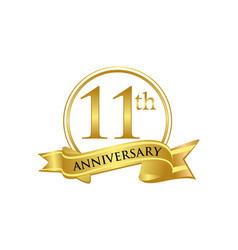 11th anniversary celebration logo vector