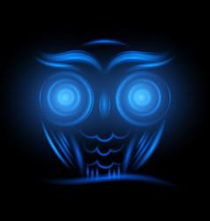 abstract animal owl neon sign hipster animal vector image