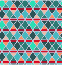 Abstract triangle and rhombus seamless pattern vector