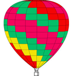 air balloon on a white background vector image