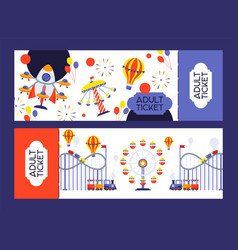 Amusement park ticket summer vector