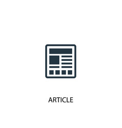Article icon simple element article vector