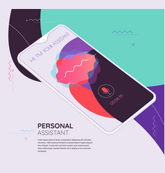 Augmented reality personal voice assistant mobile vector