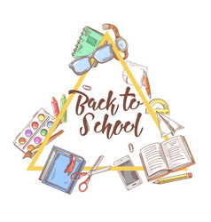 Back to school doodle education concept vector