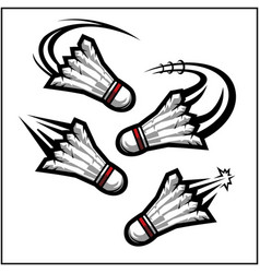 Badminton swoosh set 4 vector