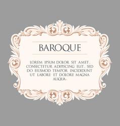 baroque frame vector image