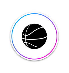 basketball ball icon isolated on white background vector image