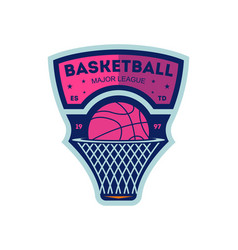 Basketball major league vintage isolated label vector