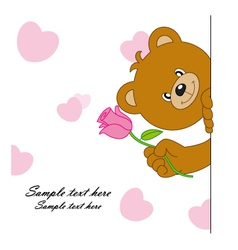 Bear with a flower vector image