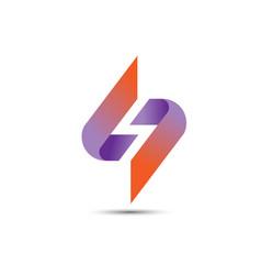 best s logo letter rainbow vector image