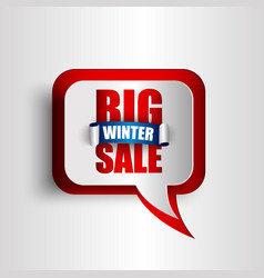 Big winter sale background vector