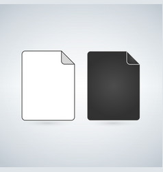 black and white file icon isolated on white vector image