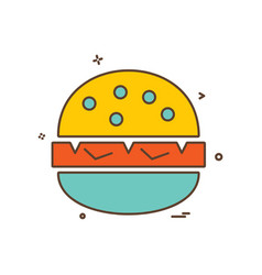 burger icon design vector image