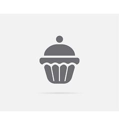 Cake Cupcake Cream Cherry Element or Icon Ready vector