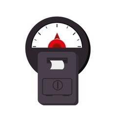 Car meter parking vector