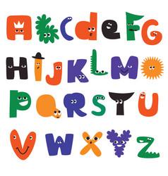 Cartoon alphabet characters vector