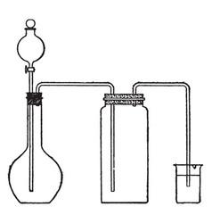 Chlorine vintage vector