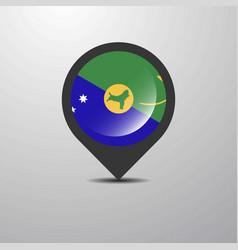 Christmas island map pin vector