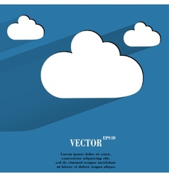 Cloud download application web icon flat design vector