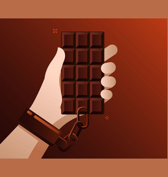 concept sweet addicted vector image