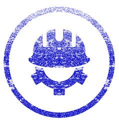 development helmet grunge textured icon vector image