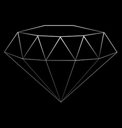 diamond outline icon vector image
