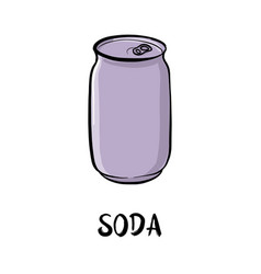 drawing soda vector image