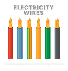 Electricity wires multicore industrial cables vector