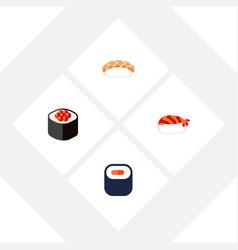 Flat icon sashimi set of seafood gourmet vector