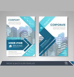 Flyer design layout vector