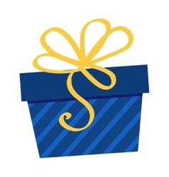 Gft holiday box for birthday with ribbon cartoon vector image
